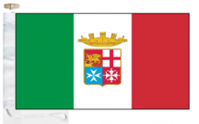 Italy Navy Ensign Courtesy Boat Flags (Roped and Toggled)